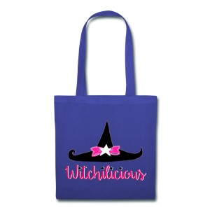 Witch Hat Witchilicious - Canvas Tote Royal Blue
