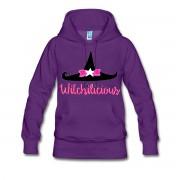 Witch Hat Witchilicious - Premium Long Sleeve Hoodie Sweatshirt Purple