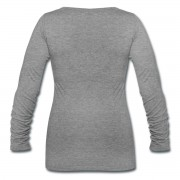 Witch Hat Witchilicious - Scoop Neck Long Sleeve Heather Grey