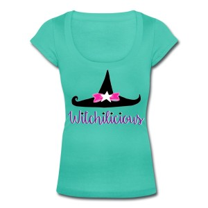 Witch Hat Witchilicious - Scoop Neck T-shirt Teal