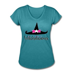 Witch Hat Witchilicious - V-Neck T-shirt Turquoise