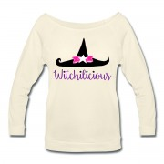 Witch Hat Witchilicious - Wide Neck 3/4 Sleeve T-shirt Ivory
