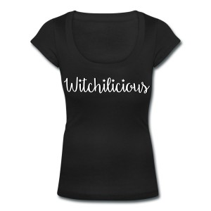 Witchilicious - Scoop Neck T-shirt Black