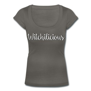 Witchilicious - Scoop Neck T-shirt Grey