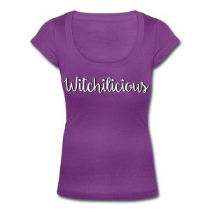 Witchilicious - Scoop Neck T-shirt Purple