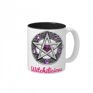 Witchilicious & Silver + Purple Pentagram Mug