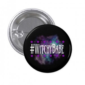 #WitchyBabe Black 1 in. Button