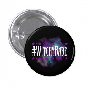 #WitchyBabe Black 2 in. Button