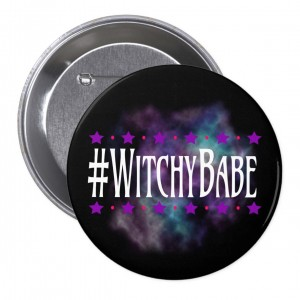 #WitchyBabe Black 3 in. Button