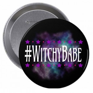 #WitchyBabe Black 4 in. Button