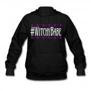 #WitchyBabe - Long Sleeve Hoodie Sweatshirt Black