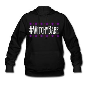 #WitchyBabe - Long Sleeve Hoodie Sweatshirt Black