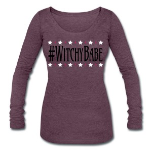 #WitchyBabe - Scoop Neck Long Sleeve Purple