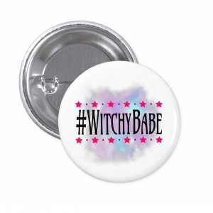 #WitchyBabe White 2 in. Button