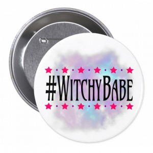 #WitchyBabe White 3 in. Button