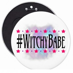 #WitchyBabe White 6 in. Button