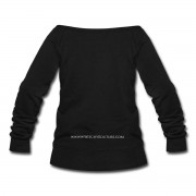 #WitchyBabe - Wide Neck Slouchy Sweatshirt Black