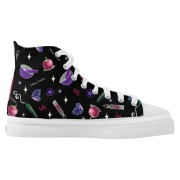 WK #ModernWitchLife Black High Top Printed Shoes