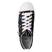 WK #ModernWitchLife Black Low Top Printed Shoes