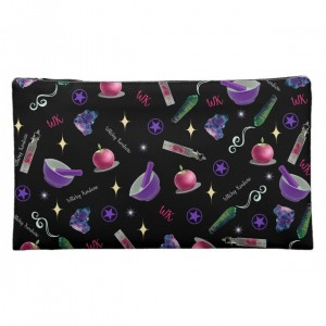 WK #ModernWitchLife Black Print Medium Cosmetic Bag