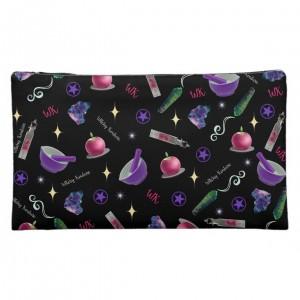 WK #ModernWitchLife Black Print Medium Cosmetic Bag