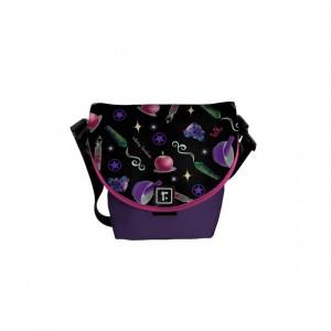 WK #ModernWitchLife Black Print Mini Messenger Bag