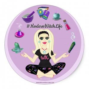 Allie Stars #ModernWitchLife 3 inch Round Stickers