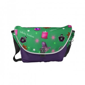 WK #ModernWitchLife Green Print Day Bag