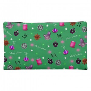 WK #ModernWitchLife Green Print Medium Cosmetic Bag