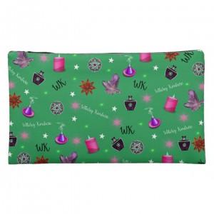 WK #ModernWitchLife Green Print Medium Cosmetic Bag