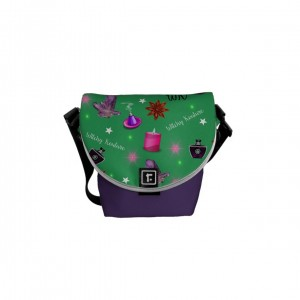 WK #ModernWitchLife Green Print Mini Messenger Bag