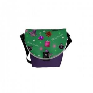 WK #ModernWitchLife Green Print Mini Messenger Bag