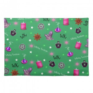 WK #ModernWitchLife Green Print Place Mats