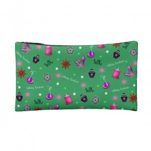WK #ModernWitchLife Green Print Small Makeup Bag