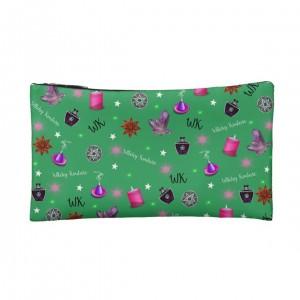 WK #ModernWitchLife Green Print Small Makeup Bag
