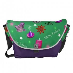 WK #ModernWitchLife Green Print Travel Bag