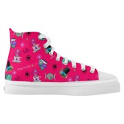 WK #ModernWitchLife Pink High Top Printed Shoes