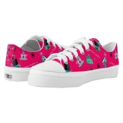 WK #ModernWitchLife Pink Low Top Printed Shoes