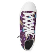 WK #ModernWitchLife Purple High Top Printed Shoes