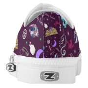 WK #ModernWitchLife Purple Low Top Printed Shoes