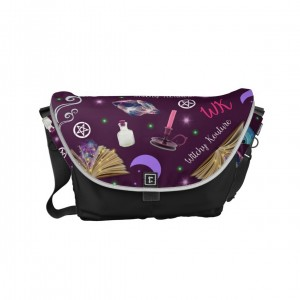 WK #ModernWitchLife Purple Print Day Bag