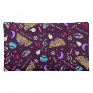 WK #ModernWitchLife Purple Print Medium Cosmetic Bag