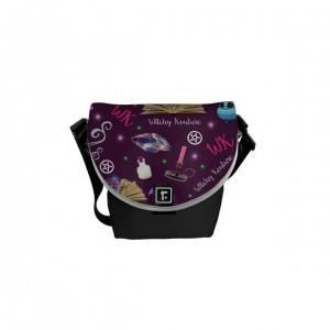 WK #ModernWitchLife Purple Print Mini Messenger Bag