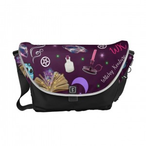 WK #ModernWitchLife Purple Print Travel Bag