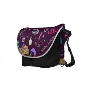 WK #ModernWitchLife Purple Print Overnight Bag