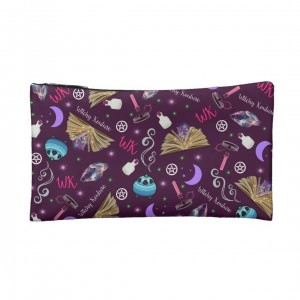 WK #ModernWitchLife Purple Print Small Cosmetic Bag
