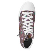 WK #ModernWitchLife Taupe High Top Printed Shoes