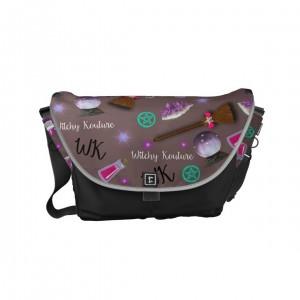 WK #ModernWitchLife Taupe Print Travel Bag