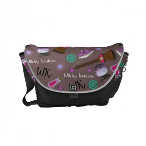 WK #ModernWitchLife Taupe Print Day Bag