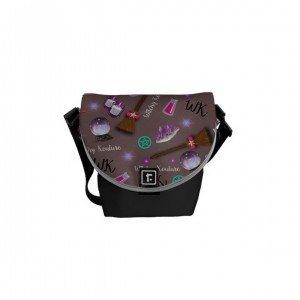WK #ModernWitchLife Taupe Print Mini Messenger Bag